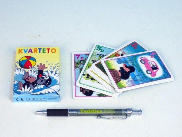 Kvarteto Krtek 1 společenská hra - karty v papírové krabičce Akim