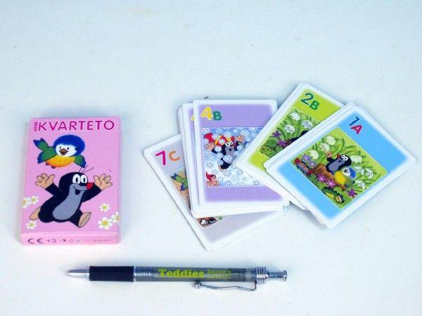 Kvarteto Krtek a sýkorka společenská hra - karty v papírové krabičce Akim