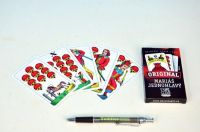 Mariáš jednohlavý společenská hra karty v papírové krabičce