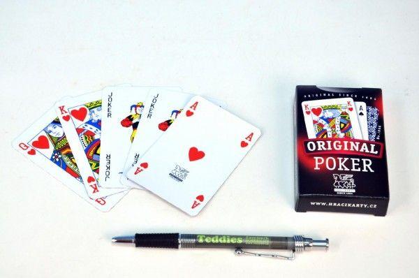 Poker společenská hra karty v papírové krabičce Hrací karty, s.r.o.
