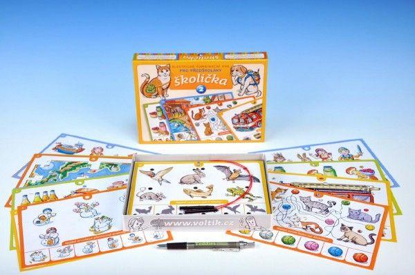 Školička 2 společenská hra na baterie v krabici 22x16x3cm Voltik toys