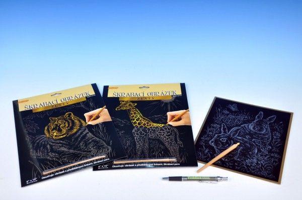 Škrábací obrázek zlatý asst 3 druhy kreativní a výtvarné SMT Creatoys