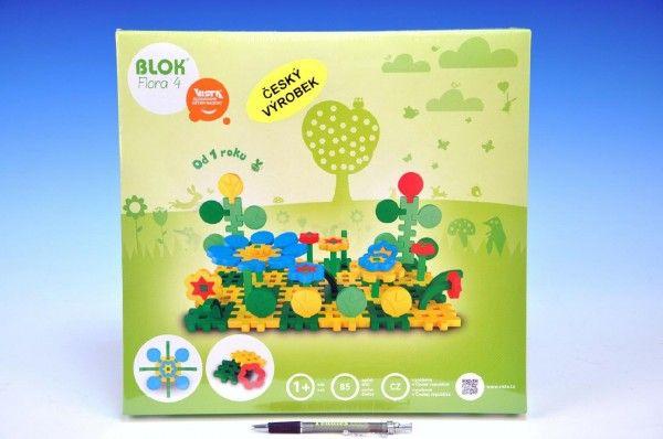 Stavebnice Blok Flora 4 plast 85ks v krabici 35x33,5x5,5cm od 12 měsíců Beneš a Lát