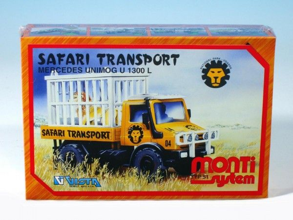 Stavebnice Monti 51 Safari-Mercedes Unimog v krabici 22x15x6cm Vista