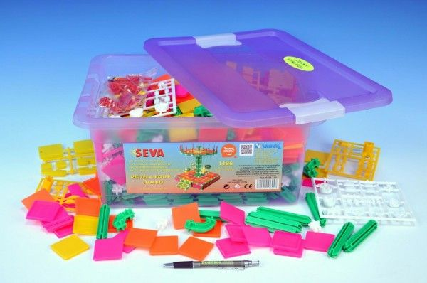 Stavebnice Seva Přijela pouť Jumbo 1486ks v plastovém boxu Beneš a Lát