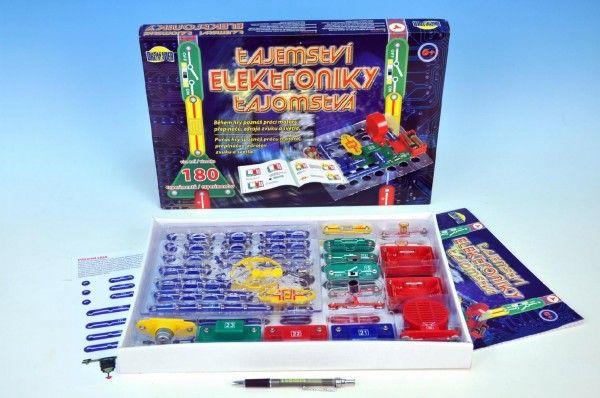 Tajemství elektroniky 180 experimentů na baterie v krabici 42x28,5x4cm od 6 let Dromader