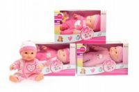 Miminko/panenka plast 22cm tvrdé tělo asst v krabici
