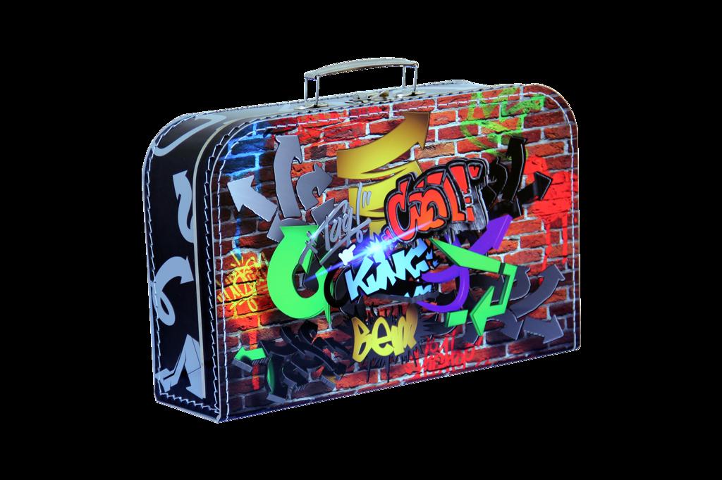 Kufřík Grafiti 35 cm, dětský kufřík , Kazeto kufřík