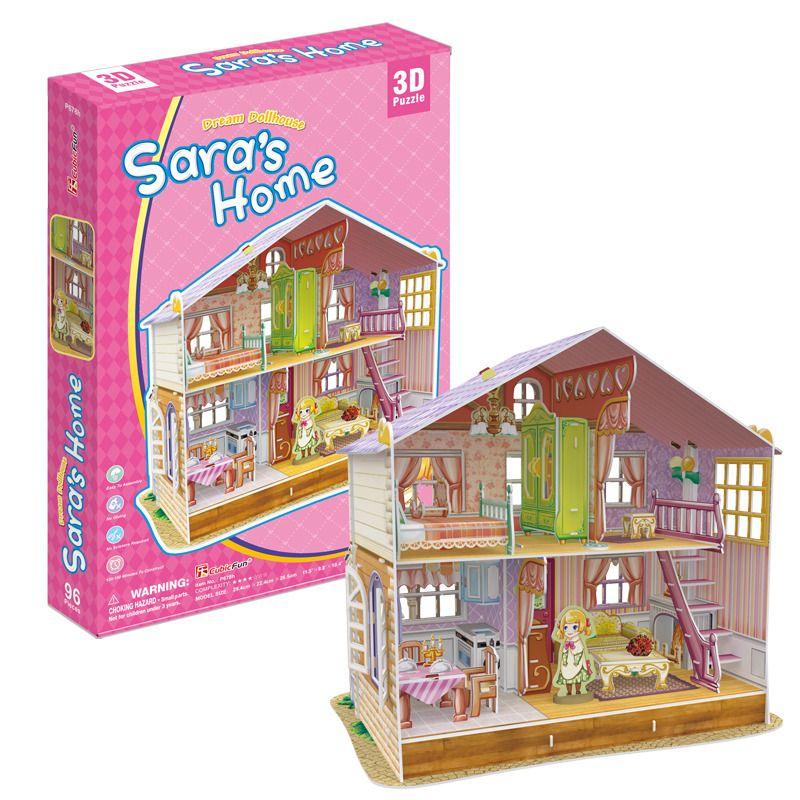 Puzzle 3D Dům pro panenky Sara's Home HM STUDIO