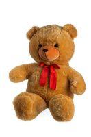 Medvěd plyš 100cm s mašlí světle hnědý od 0 měsíců Teddies