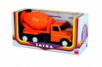 Auto Tatra 148 plast 30cm míchačka oranžová v krabici Dino