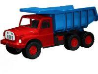 Auto Tatra 148 plast 73cm v krabici - červená kabina modrá korba Dino