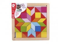 Magnetická tabulka se zrcadly dřevo hračka ze dřeva naučná a výuková Teddies