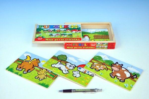 Puzzle dřevěné Moje první zvířátka hračka ze dřeva pro děti od 1 roku Teddies