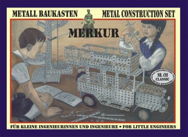 Stavebnice MERKUR CLASSIC C01 v krabici Merkur Toys