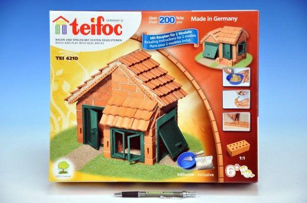 Stavebnice Teifoc Domek Albert 200ks v krabici 35x29x8cm Směr