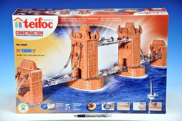 Stavebnice Teifoc Tower Bridge 1000ks v krabici 55x37x15cm Směr