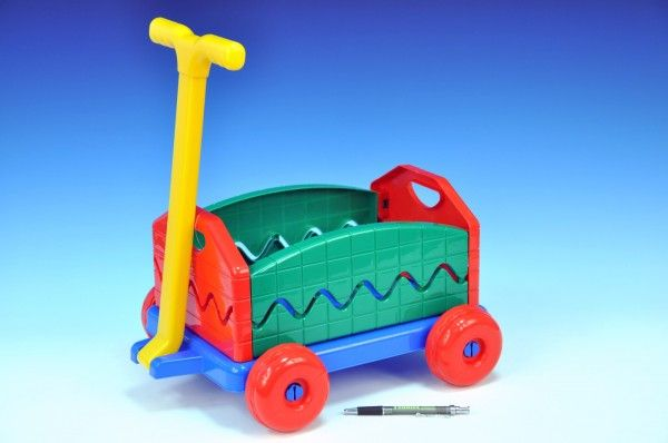 Vozík/Vlečka plast 40x32x20cm rozkládací s rukojetí Lena