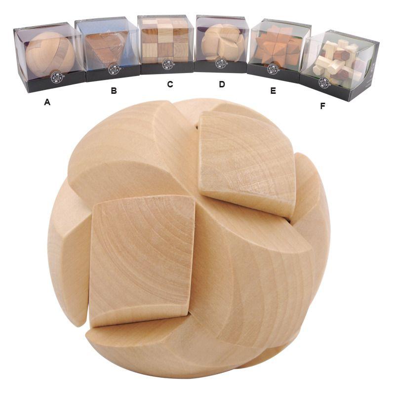 Hlavolamy - dřevěné 3D HM STUDIO