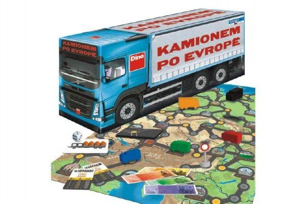 Kamionem po Evropě společenská hra v krabici 36x16x10cm Dino