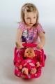Nosítko pro panenky plast autosedačka pro panenky Teddies