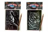 Škrábací obrázek hologram 14x25cm asst 6 druhů