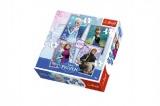 Puzzle 4v1 35, 48, 54, 70 dílků 20,5x28,5cm Ledové království/Disney v krabici 28x28x6cm