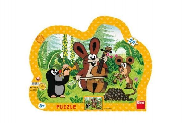 Puzzle deskové Krtek muzikant kontura 35x28cm 25 dílků Dino
