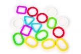 Řetěz/zábrana tvary plast 7cm 16ks v sáčku od 3 měsíců Profibaby