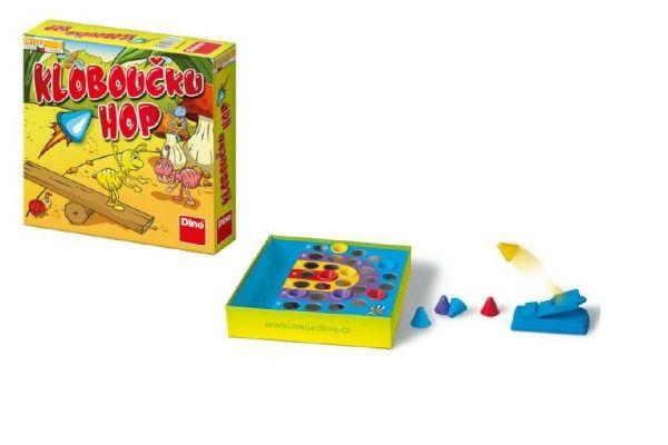 Klouboučku hop! společenská hra v krabici 23x23x5cm Dino