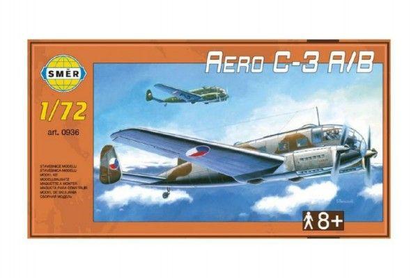 Model Aero C-3 A/B 1:72 29,5x16,6cm v krabici 34x19x5,5cm Směr