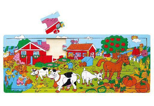 Deskové puzzle farma dřevěné 21 dílů HM STUDIO