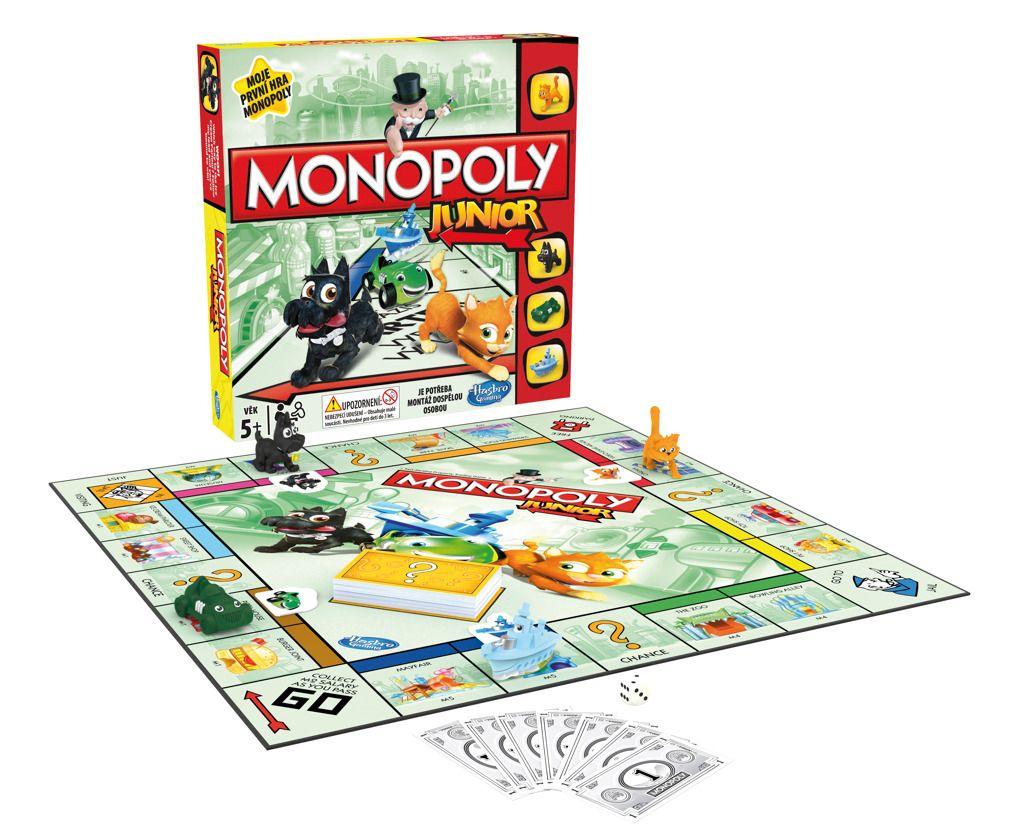 Monopoly junior společenská stolní hra dětské hry vzdělávací hry Hasbro