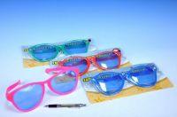 Brýle sluneční velké žertovné 27x9x1,5cm asst 6 barev na kartě