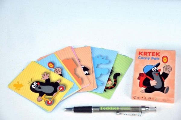 Černý Petr Krtek společenská hra - karty v krabičce Akim