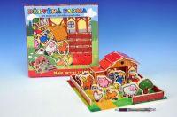 Domeček dřevěná farma Moje první zvířátka dřevěné hračky didaktická hračka Teddies