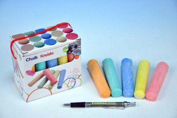 Křídy barevné chodníkové 10,5x2,5x2,2cm 15ks v krabičce od 24 měsíců Teddies