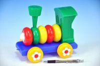 Lokomotiva/Vlak skládací plast 20cm od 24 měsíců hračka pro nejmenší Směr