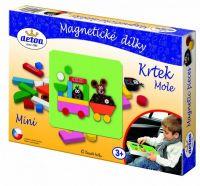 Magnetické dílky mini Krtek dřevo 27ks v krabici Detoa