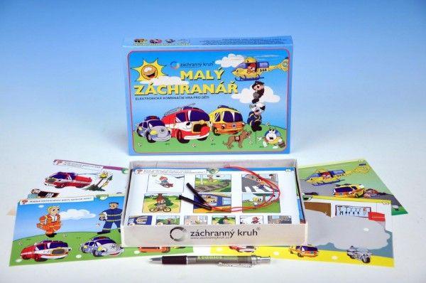 Malý záchranář společenská hra na baterie v krabici 22x16x3cm Voltik toys