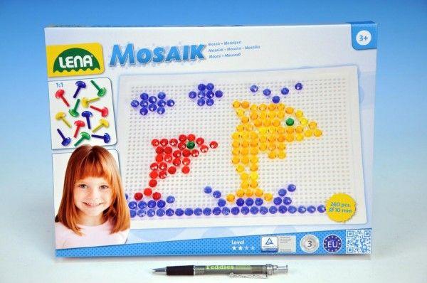 Mozaika klobouček 1cm krystal 260ks v krabici Lena