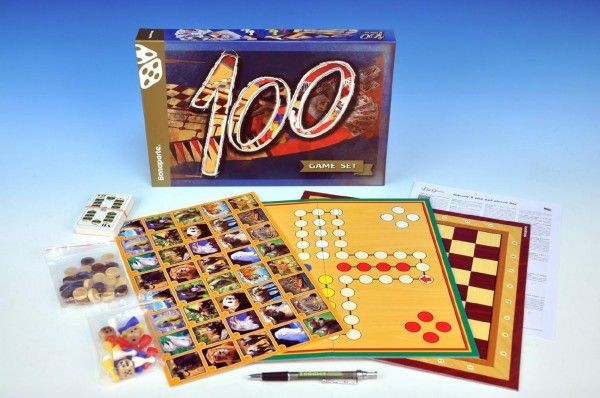 Soubor her 100-společenská hra v krabici Bonaparte
