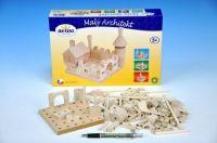 Stavebnice Malý Architekt kostky dřevo 120ks v krabici