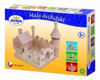 Stavebnice Malý Architekt kostky dřevo 120ks v krabici Detoa