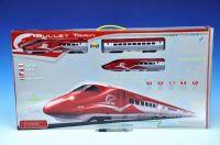 Vlak Bullet Train + dráha 1,63m + doplňky na baterie se zvukem se světlem v krabici