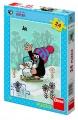 Puzzle 24 dílků Krtek a sněhulák