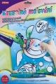 Kouzelné malování vodou asst 3 druhy na kartě SMT Creatoys