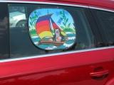 Sluneční clona do auta Krtek 44x36cm asst 2 druhy 2ks v sáčku Wiky