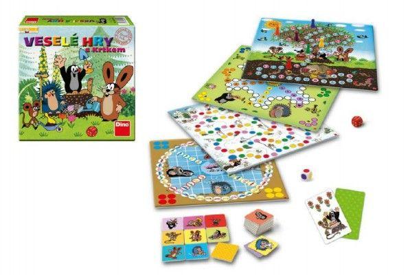 Veselé hry s Krtkem společenská hra v krabici 30x30x7cm Dino