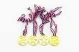 Medaile průměr 4cm 4ks plast v sáčku Teddies